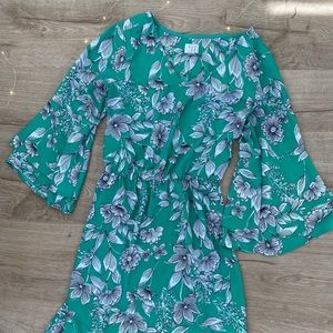 2 for $10 / A New Day Green Floral Dress